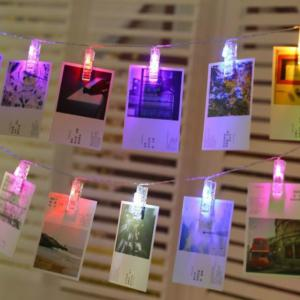 Photo Card Wall Clip Fairy LED String Light Holiday Decoration -