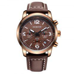 OCHSTIN GQ047A Military Men Analog Leather Quartz Watch -