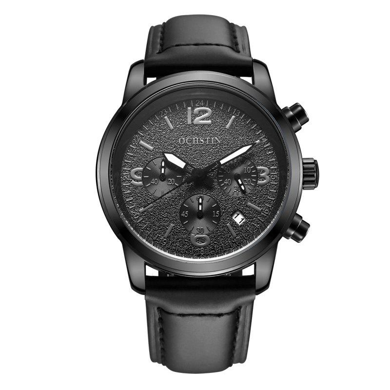 Unique OCHSTIN GQ047A Military Men Analog Leather Quartz Watch