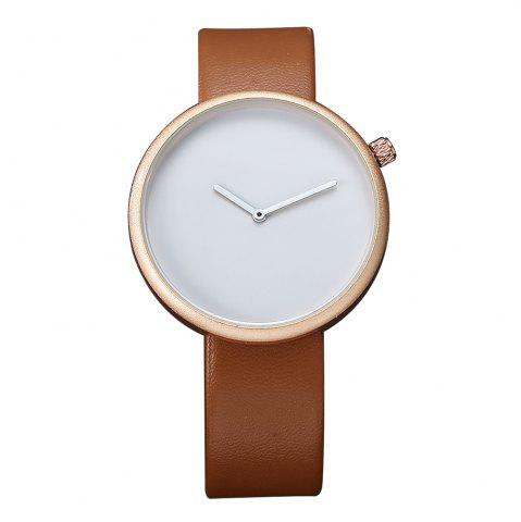 Best TOMI T006 Men Casual Soft Leather Band Quartz Watches with Box