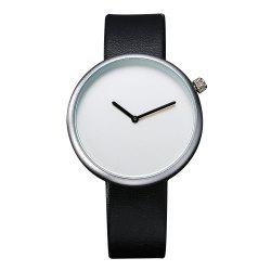 T006 Men Casual Soft Leather Band Quartz Watches with Box -