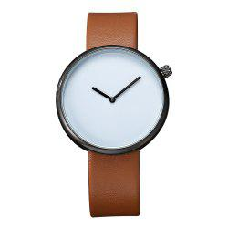 TOMI T006 Men Casual Soft Leather Band Quartz Watches with Box -