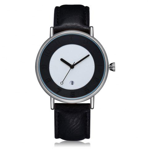 Cheap TOMI T014 Men Round Leather Band Wrist Watch with Box