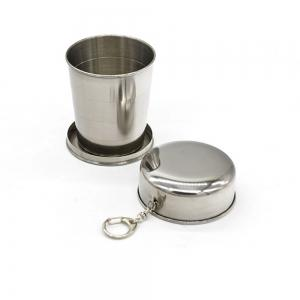 Creative Stainless Steel Retractable Cup Portable Outdoor Wine Cup. -