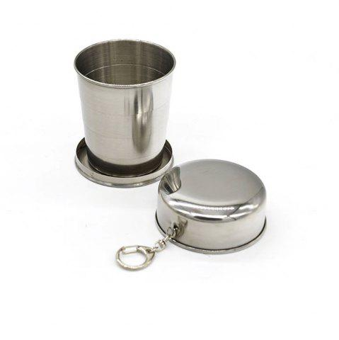 Store Creative Stainless Steel Retractable Cup Portable Outdoor Wine Cup.