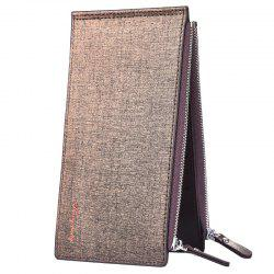 New Card Wallet Men's Mobile Bag Ultra-Thin Double Zip -