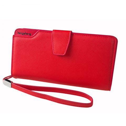 Shop Handbag Wallet New Cross-Shaped Long Candy-Colored Zipper Purse Lady with Button