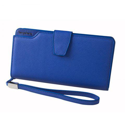 Trendy Handbag Wallet New Cross-Shaped Long Candy-Colored Zipper Purse Lady with Button