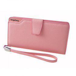 Handbag Wallet New Cross-Shaped Long Candy-Colored Zipper Purse Lady with Button -