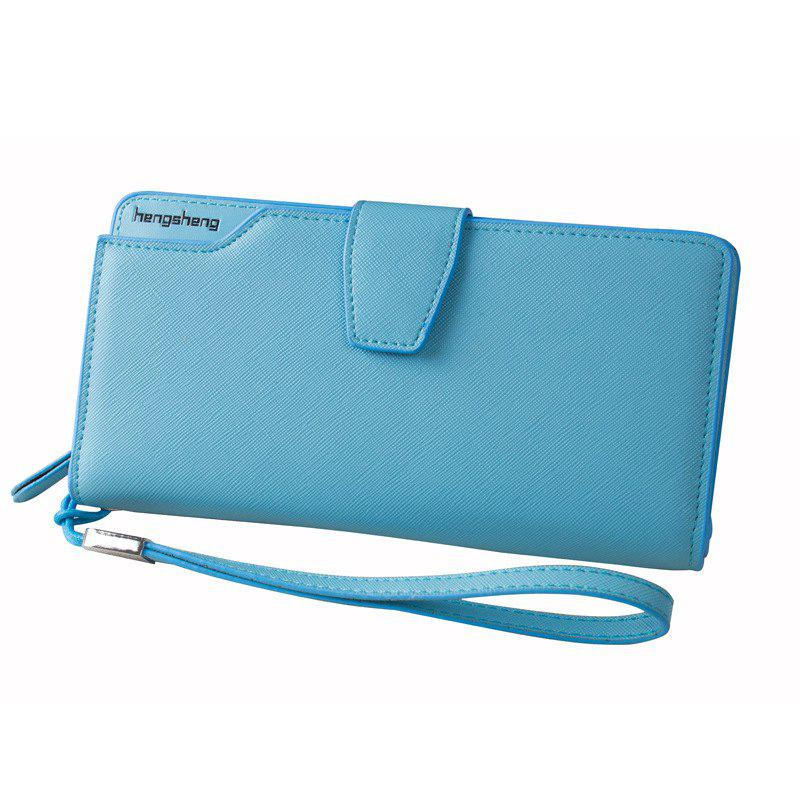 Store Handbag Wallet New Cross-Shaped Long Candy-Colored Zipper Purse Lady with Button