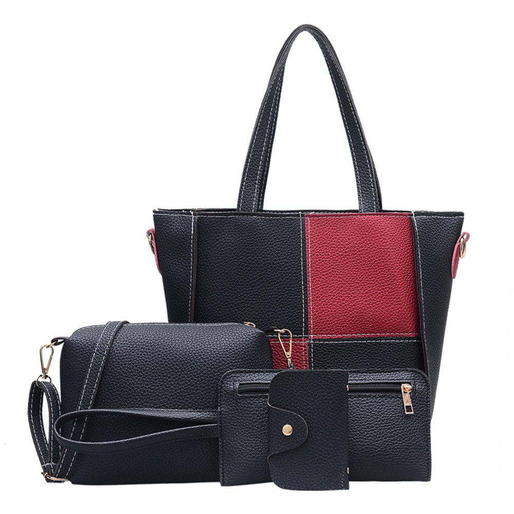 Chic Bucket Female Shoulder Four Bag Pieces Tote