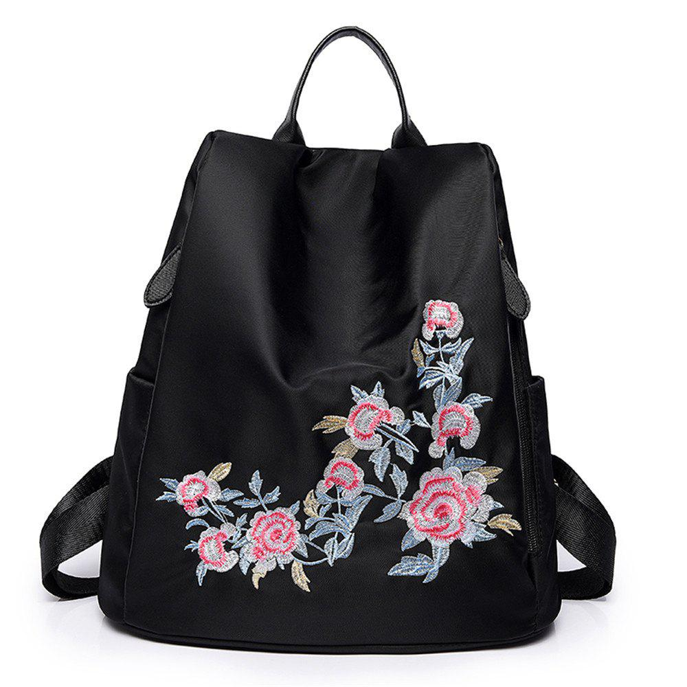 Trendy Embroidered Shoulders Fashion Casual Mummy Backpack