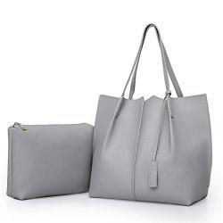 Tote Shoulder Simple Two Pieces Handbag -