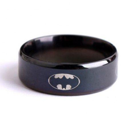 Fashion Black Batman Titanium Steel Ring