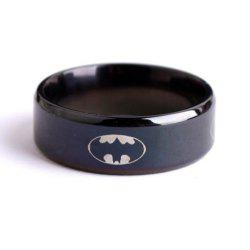 Black Batman Titanium Steel Ring -