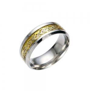 Hot Sale Chinese Dragon Pattern Titanium Rings -