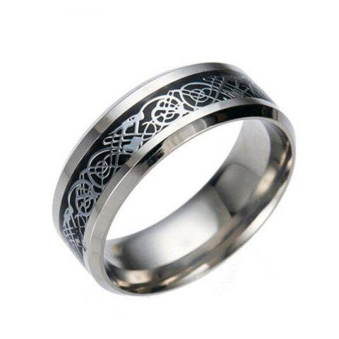 Fancy Hot Sale Chinese Dragon Pattern Titanium Rings