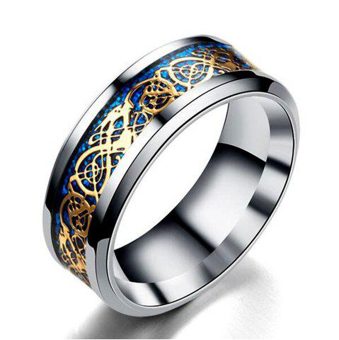 Unique Hot Sale Chinese Dragon Pattern Titanium Rings