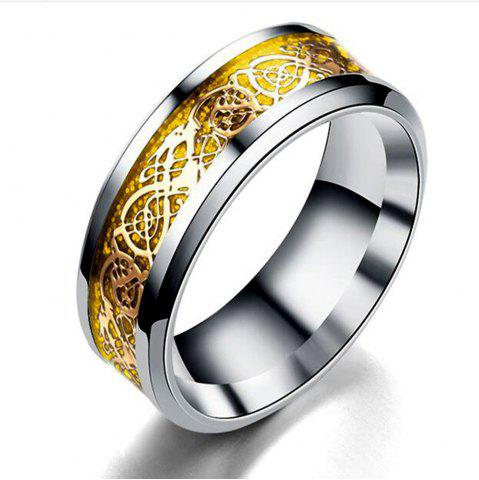Chic Hot Sale Chinese Dragon Pattern Titanium Rings
