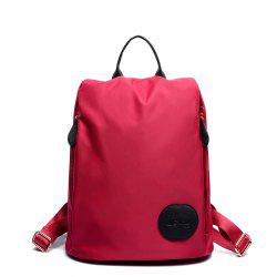 Female Nylon Oxford Canvas Fashion Personality Wild Small Bag Student Backpack -