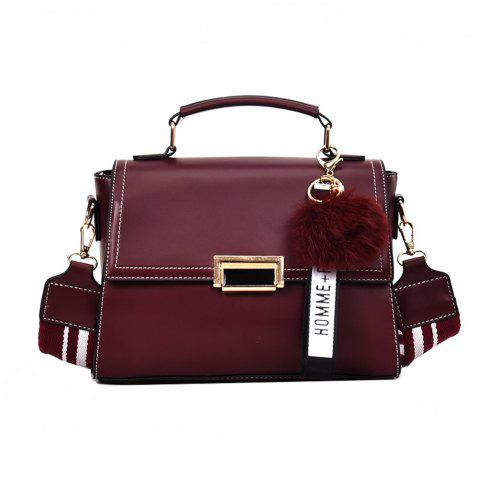 Trendy Fashionable Atmosphere Female Wild Messenger Shoulder Bag Wide Strap Small Square Package