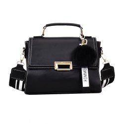 Fashionable Atmosphere Female Wild Messenger Shoulder Bag Wide Strap Small Square Package -