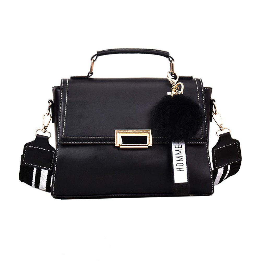 Outfit Fashionable Atmosphere Female Wild Messenger Shoulder Bag Wide Strap Small Square Package