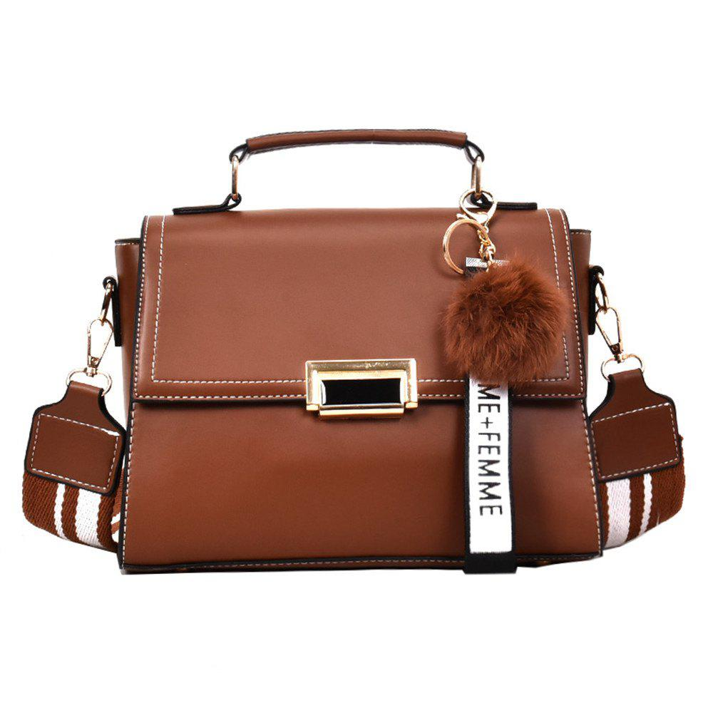 Sale Fashionable Atmosphere Female Wild Messenger Shoulder Bag Wide Strap Small Square Package