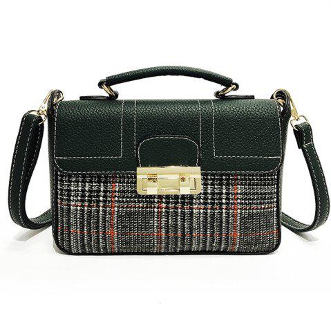 Trendy Plaid Female Messenger Fashion Shoulder Bag Lock Portable Small Square Package