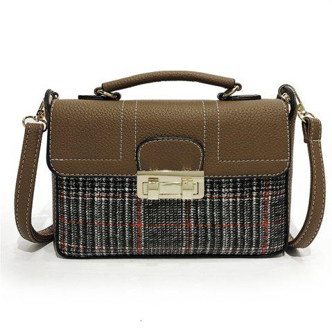 Latest Plaid Female Messenger Fashion Shoulder Bag Lock Portable Small Square Package