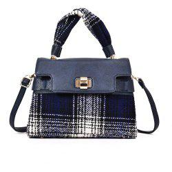 Woolen Handbag Shoulder Buckle Messenger Bag -