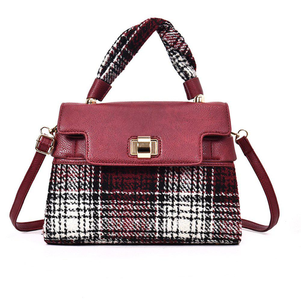 Sale Woolen Handbag Shoulder Buckle Messenger Bag