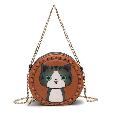 Outfits Bag Female Fashion Wild Pattern Purse Simple Shoulder Diagonal Chain Package
