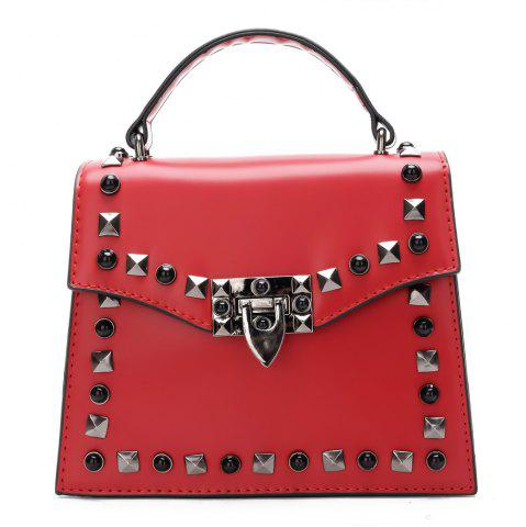 Hot Handbag Fashion Rivets Small Square Shoulder Bag