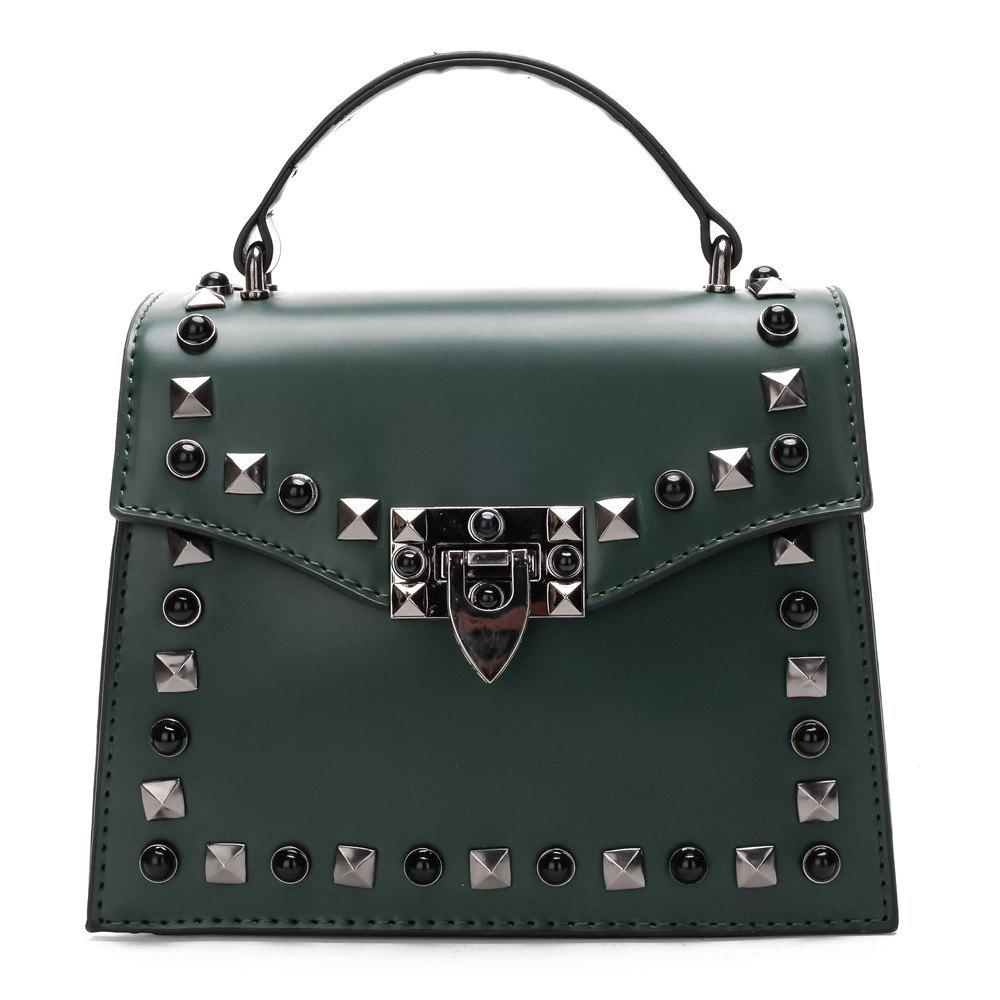 Buy Handbag Fashion Rivets Small Square Shoulder Bag