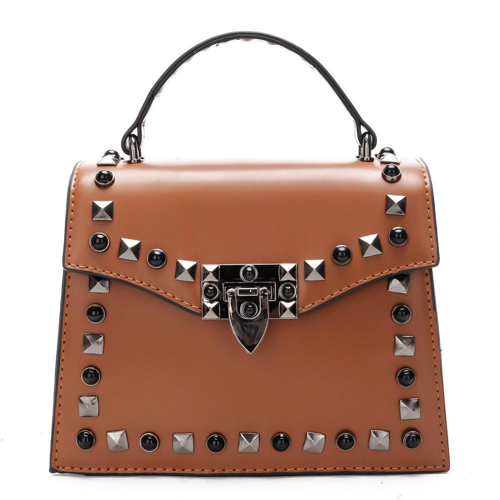 Cheap Handbag Fashion Rivets Small Square Shoulder Bag