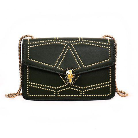 Affordable Snake Head Chain Fashion Package Buckle Small Bag Shoulder Diagonal Package