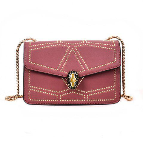 Fancy Snake Head Chain Fashion Package Buckle Small Bag Shoulder Diagonal Package