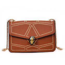 Snake Head Chain Fashion Package Buckle Small Bag Shoulder Diagonal Package -