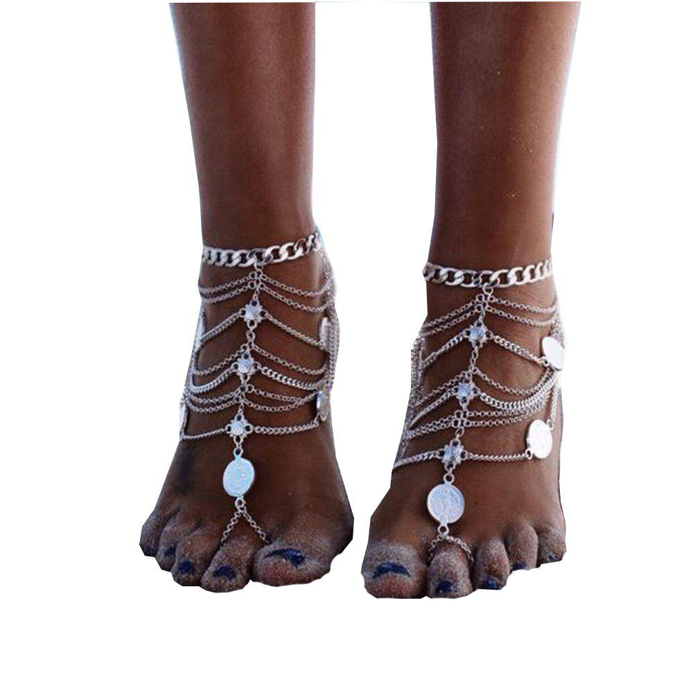 Chic Multi-Layer Chain Chain Foot Chain Anklet
