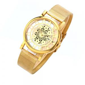 Hollow Stylish Stainless Steel Mesh Band Watch -