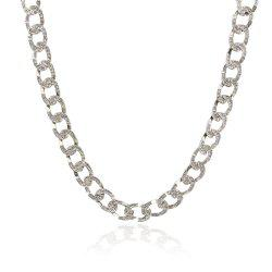 Exaggerated Cuban Chain Hip Hop Gold Studded Diamond Necklace -
