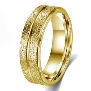 New Stainless Steel Double-Row Frosted Personalized Titanium Steel Ring -