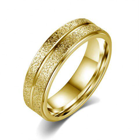 New New Stainless Steel Double-Row Frosted Personalized Titanium Steel Ring
