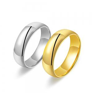 Gold-Plated Titanium Gold-Plated Ring King Ring -