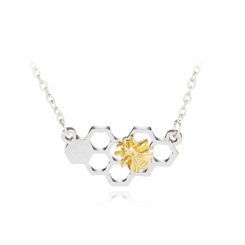Buy Fashion Hollow Heart Shaped Honeycomb Necklace Creative Bee Pendant