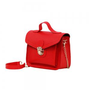 Women's Handbag Plain Style Ladylike All Match Fashionable Bag -