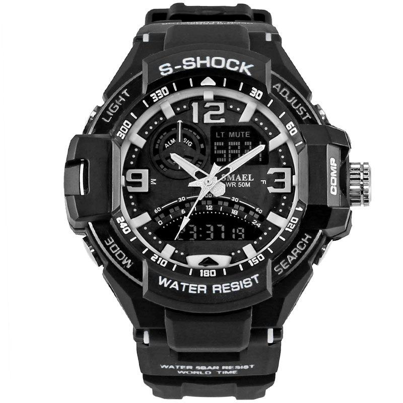 New SMAEL 1516 Multi-function Waterproof Durable Outdoor Sport LED Watch