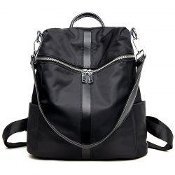 Female Soft Leather Schoolbag Fashion Collocation Amphibious Travel Bag Backpack -