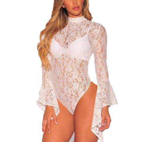 Store 2018 New Lace Long Sleeve Jumpsuit